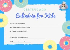 Certificado CDV Kids Masculino
